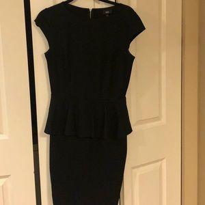 Black Peplum Top / Pencil Skirt Dress